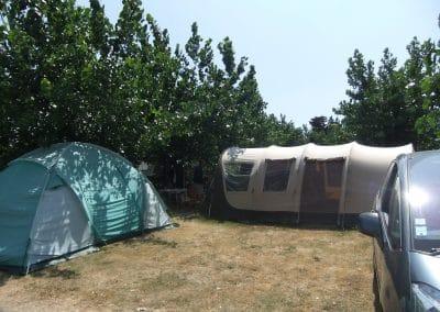 emplacement toile de tente